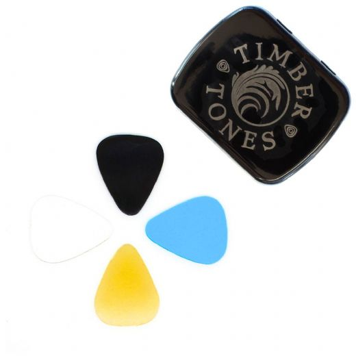 Rubber Tones Mini Mixed Tin of 4 Guitar Picks